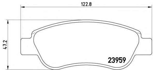 Колодки тормозные передние Brembo P61081P61081