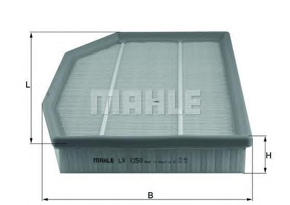 Фильтр воздушный Mahle/Knecht LX1250LX1250