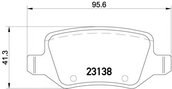 Колодки тормозные дисковые, 4 шт Textar 23138052313805