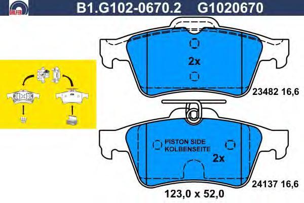 Колодки тормозные дисковые Galfer B1G10206702B1G10206702