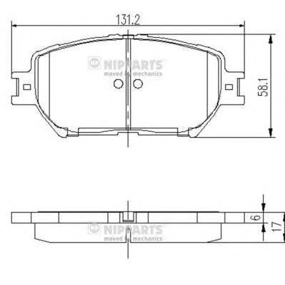 Колодки тормозные передние Nipparts J3602099J3602099