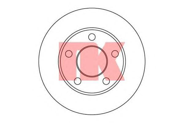 Диск тормозной NK 204744 комплект 2 шт204744