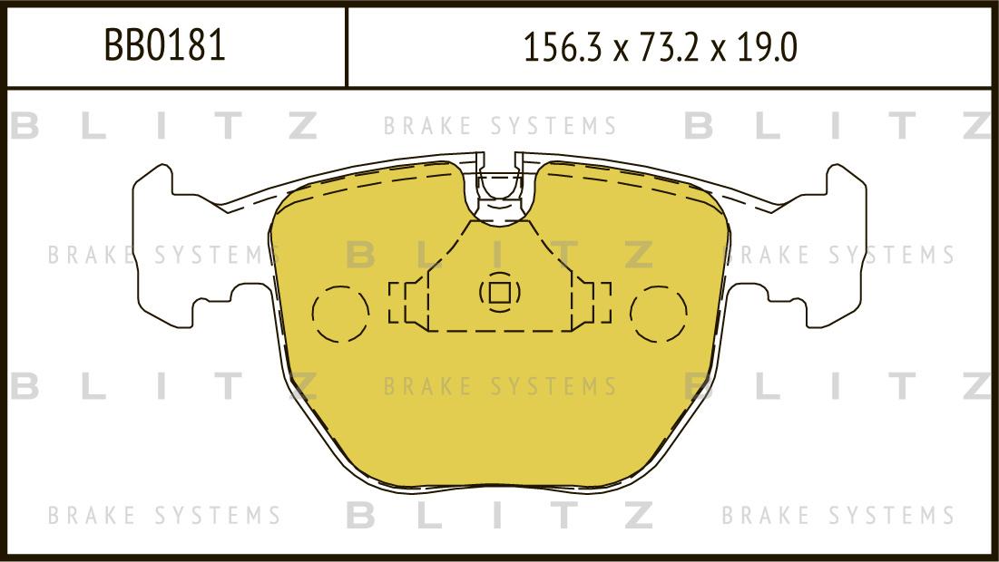 Колодки тормозные дисковые BLITZ автотовары BB0181BB0181