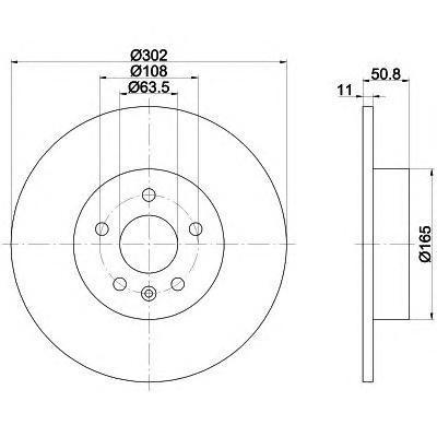 Диск тормозной задний Textar 9215930392159303