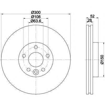 Диск тормозной Pro BEHR-HELLA 8DD355116221 комплект 2 шт8DD355116221