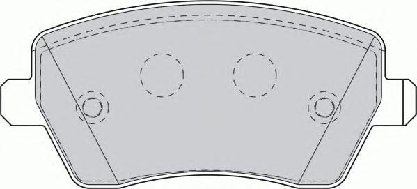 Колодки тормозные дисковые Premier Ferodo FDB1617FDB1617