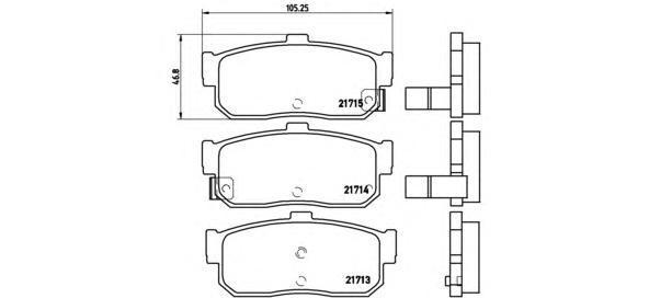 Колодки тормозные задние Brembo P56029P56029