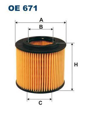 Фильтр масляный Filtron OE671OE671