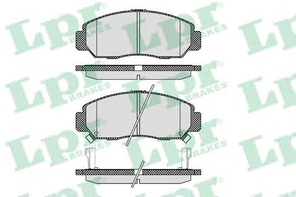 Колодки тормозные передние LPR / AP 05P107105P1071