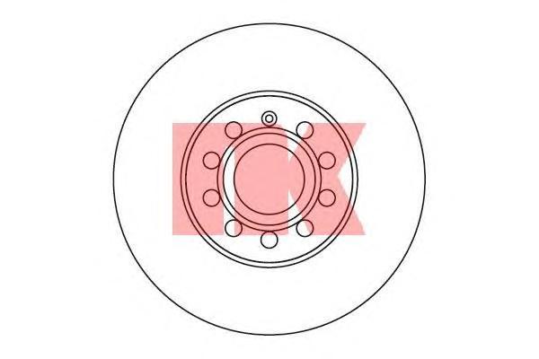 Диск тормозной NK 204788 комплект 2 шт204788