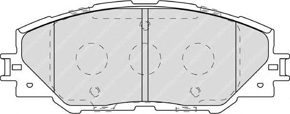 Ferodo Колодки тормозные дисковые Premier. FDB4136FDB4136