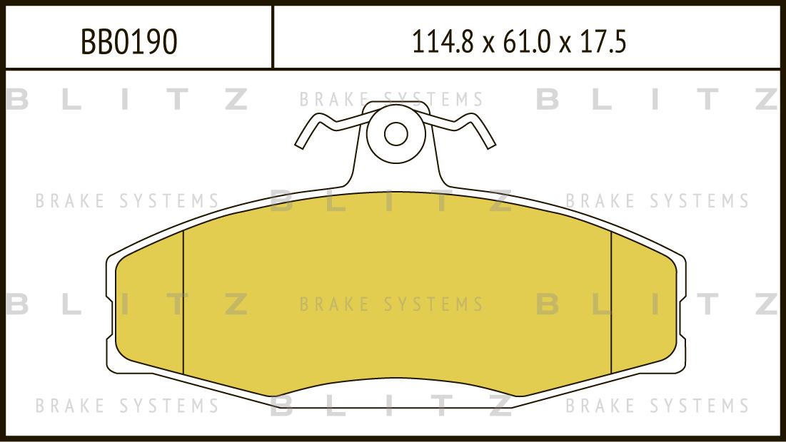 Колодки тормозные дисковые BLITZ автотовары BB0190BB0190