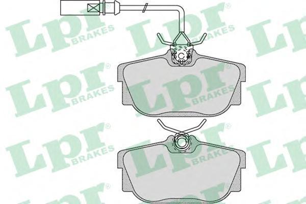 Колодки тормозные задние с датчиками LPR / AP 05P97405P974