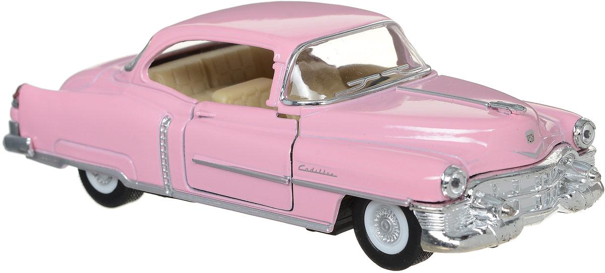 Kinsmart Модель автомобиля 1953 Cadillac Series 62 Coupe цвет розовый 10 франков 1953 года