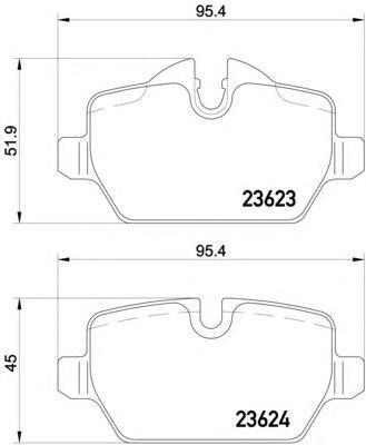 Колодки тормозные дисковые, 4 шт Textar 23623032362303