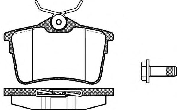 Колодки тормозные дисковые Remsa, комплект. 138200138200
