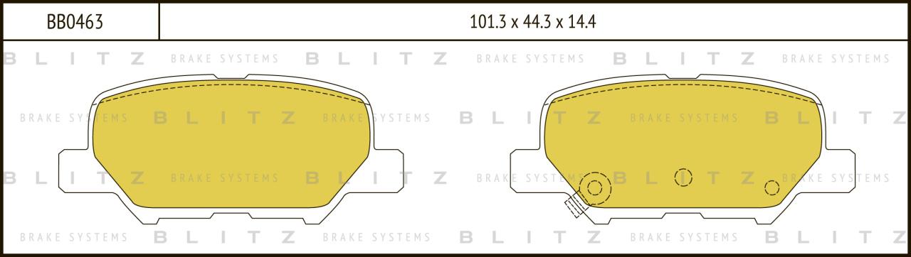 Колодки тормозные дисковые BLITZ автотовары BB0463BB0463