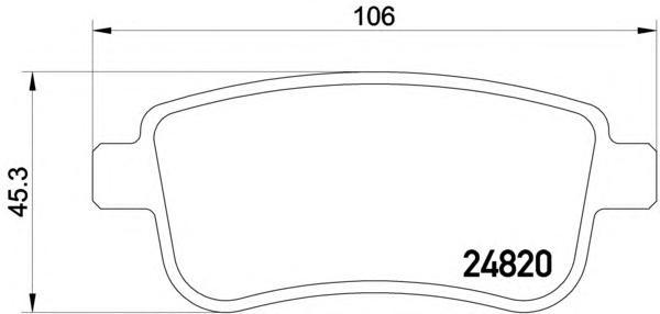 Колодки тормозные дисковые, 4 шт Textar 24820012482001