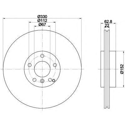 Диск тормозной задний Textar 92150903 комплект 2 шт92150903