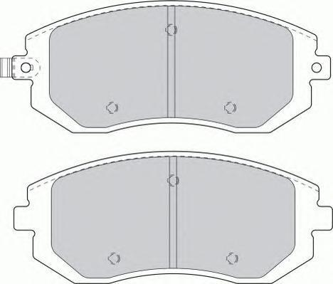 Колодки тормозные дисковые Premier Ferodo FDB1639FDB1639