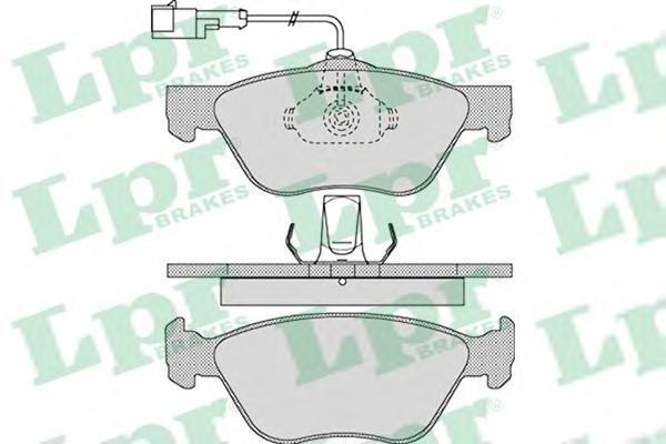 Колодки тормозные LPR / AP 05P109805P1098