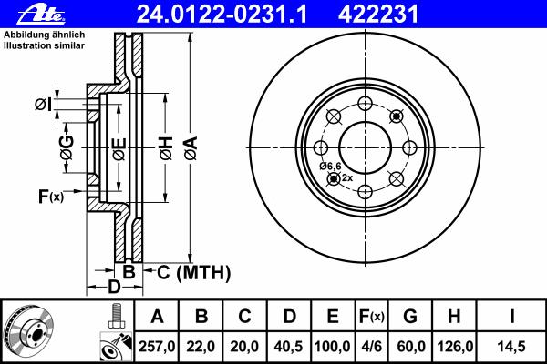 Диск тормозной Ate 24012202311 комплект 2 шт24012202311