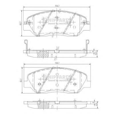 Колодки тормозные передние Nipparts N3605051N3605051