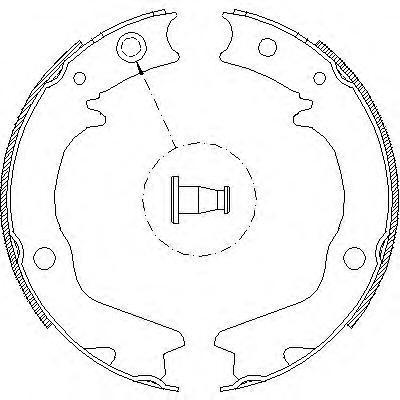 Колодки тормозные барабанные, ручной тормоз [167x32] Remsa 470200470200