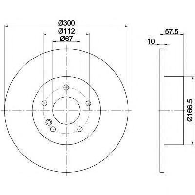 Диск тормозной задний Textar 92163303 комплект 2 шт92163303