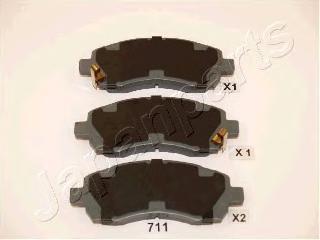 Колодки тормозные дисковые Japanparts PA711AFPA711AF