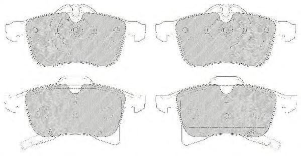 Колодки тормозные дисковые Premier Ferodo FDB1640FDB1640