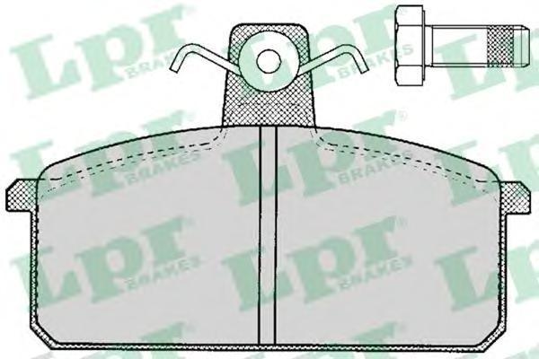 Колодки тормозные LPR / AP 05P10705P107