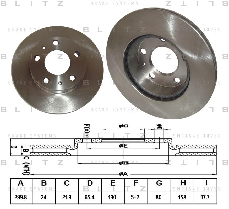 Диск тормозной BLITZ автотовары BS0148BS0148