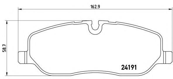 Колодки тормозные передние Brembo P44014P44014