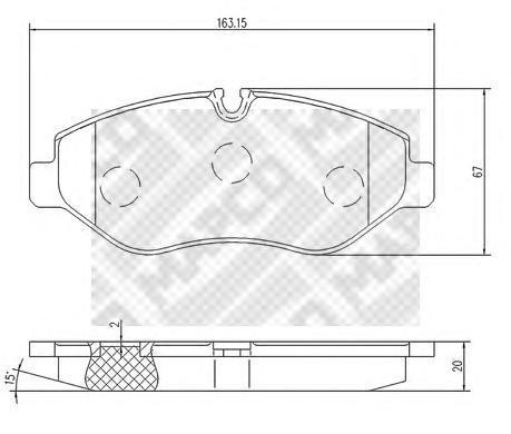 Колодки тормозные передние Mapco 67966796