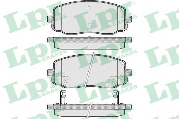 Колодки тормозные передние LPR / AP 05P122005P1220