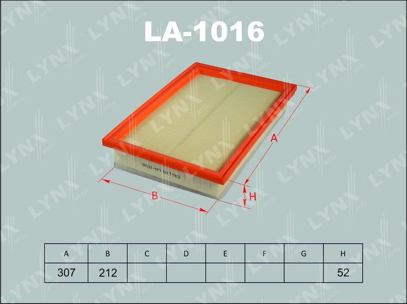 Фильтр воздушный Lynx LA1016LA1016