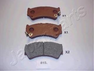 Колодки тормозные дисковые Japanparts PA815AFPA815AF