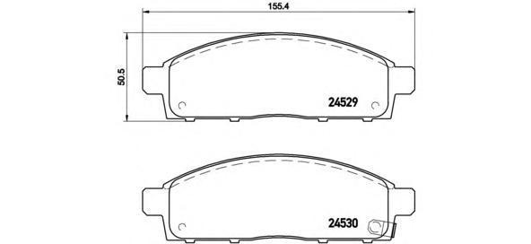 Колодки тормозные передние Brembo P54038P54038
