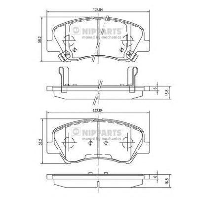 Колодки тормозные передние Nipparts N3600550N3600550