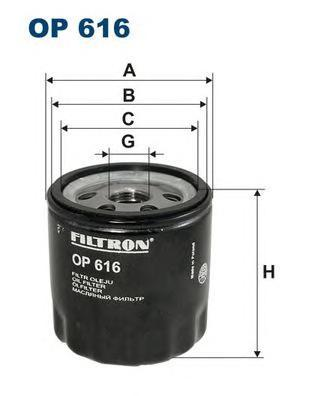 Фильтр масляный Filtron OP616OP616