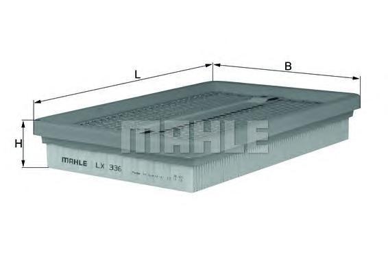 Фильтр воздушный Mahle/Knecht LX336LX336