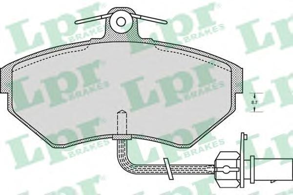 Колодки тормозные LPR / AP 05P97905P979