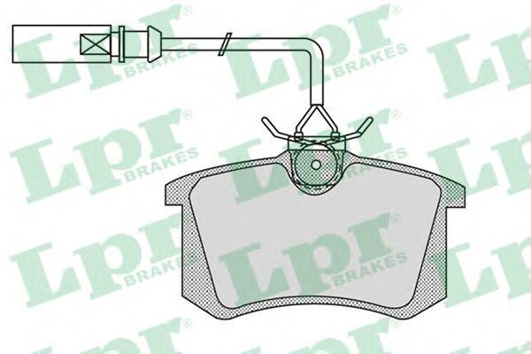 Колодки тормозные задние LPR / AP 05P98005P980