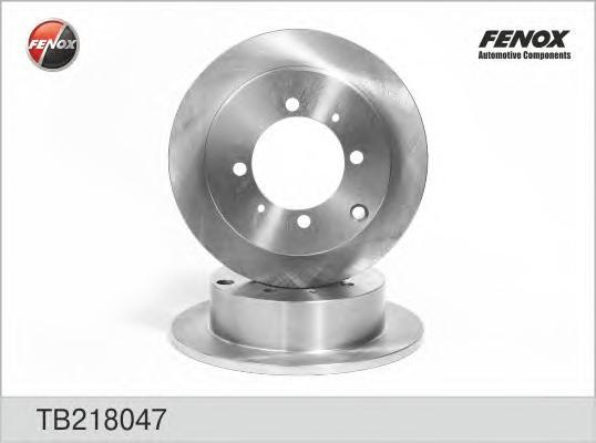 Диск тормозной Fenox TB218047 комплект 2 штTB218047