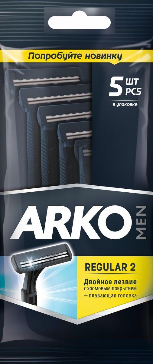Arko MenСтанок для бритья Regular 2, 2 лезвия, 5 шт Arko