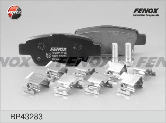 Колодки тормозные Fenox BP43283BP43283