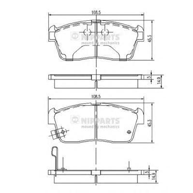 Колодки тормозные передние Nipparts J3608021J3608021