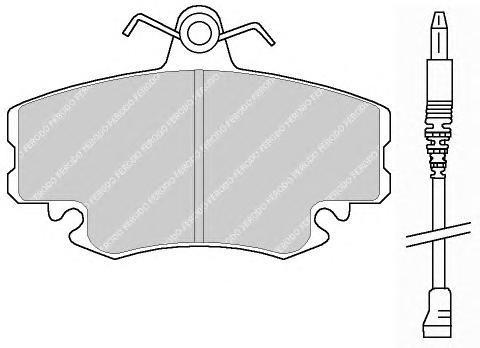 Колодки тормозные дисковые Premier Ferodo FDB845FDB845