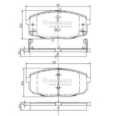 Колодки тормозные передние Nipparts J3600319J3600319